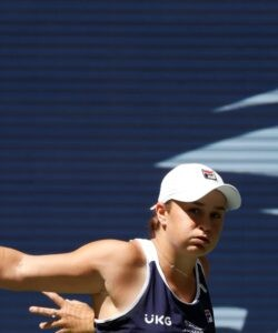 Ash Barty at the 2021 U.S. Open tennis tournament at USTA Billie Jean King National Tennis Center.