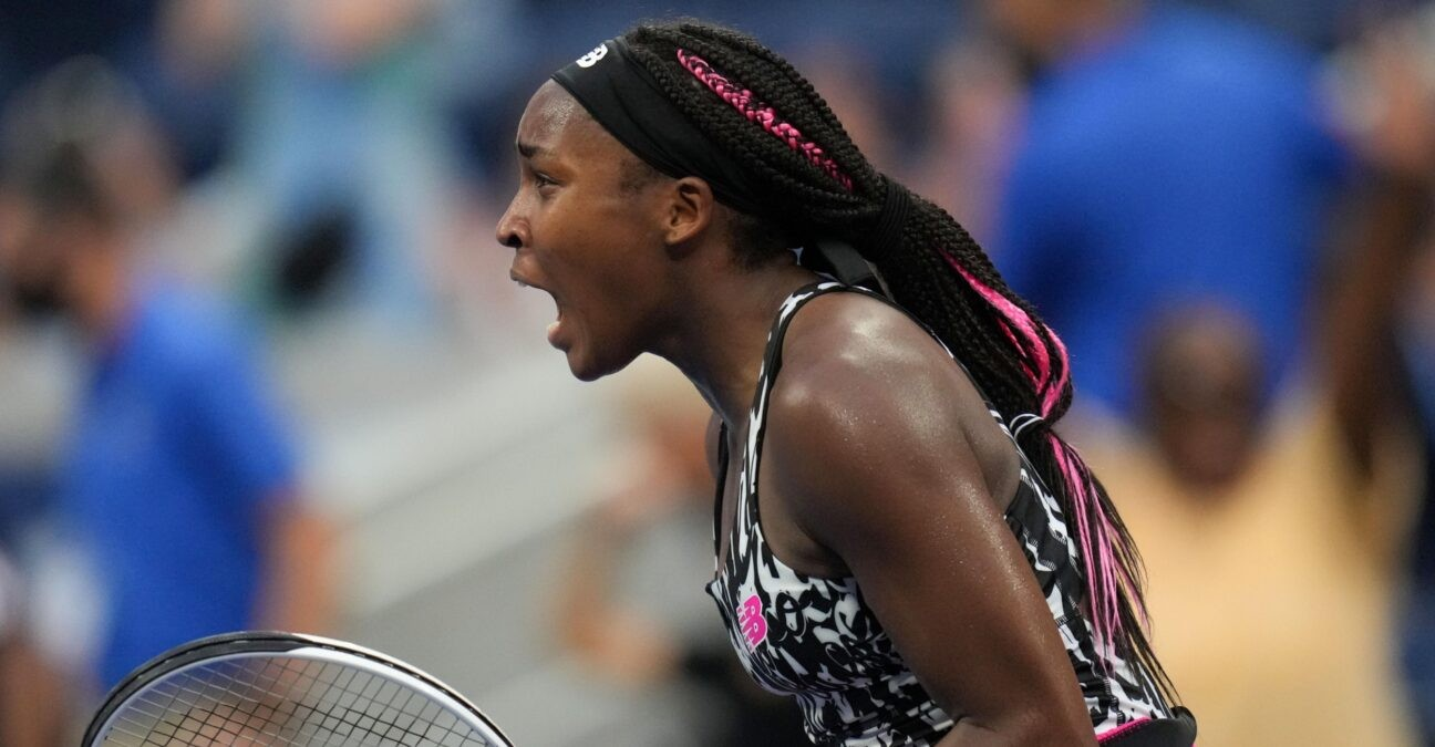Coco Gauff at the US Open 2021 (Panoramic)