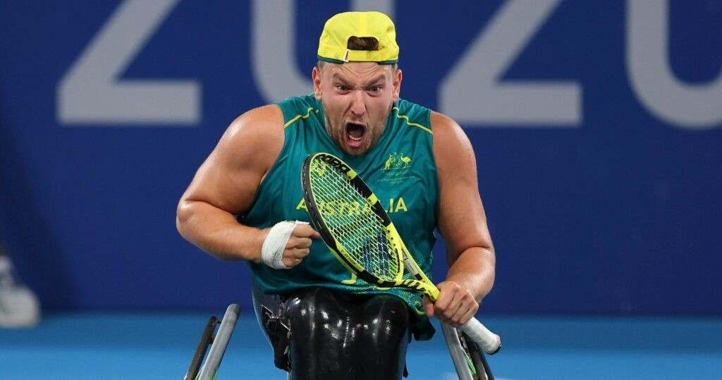 Dylan Alcott at the Tokyo Paralympics in 2021