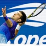 Novak Djokovic on Day 2 of the 2021 U.S. Open