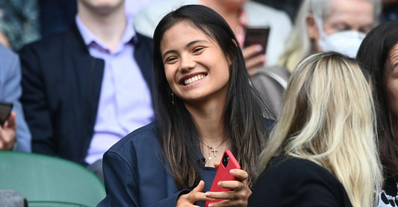 Emma Raducanu at Wimbledon in 2021