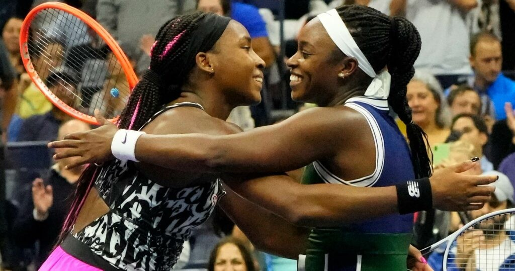 Coco Gauff & Sloane Stephens at the 2021 US Open