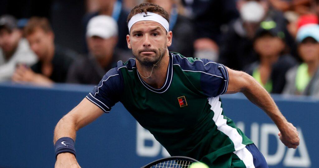 Grigor Dimitrov at the 2021 US Open