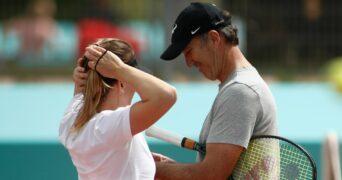 Simona Halep & Darren Cahill at Madrid in 2021
