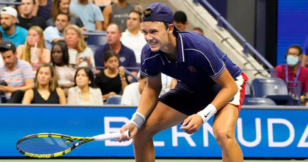 Holger Rune at the 2021 US Open
