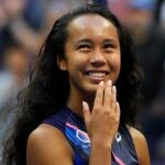 Leylah Fernandez at the 2021 US Open