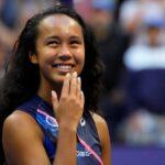 Leylah Fernandez at the 2021 U.S. Open tennis tournament at USTA Billie Jean King National Tennis Center.