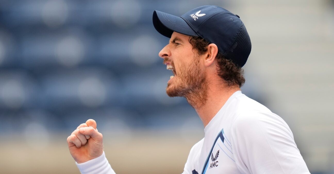 Andy Murray at the 2021 U.S. Open tennis tournament at USTA Billie King National Tennis Center