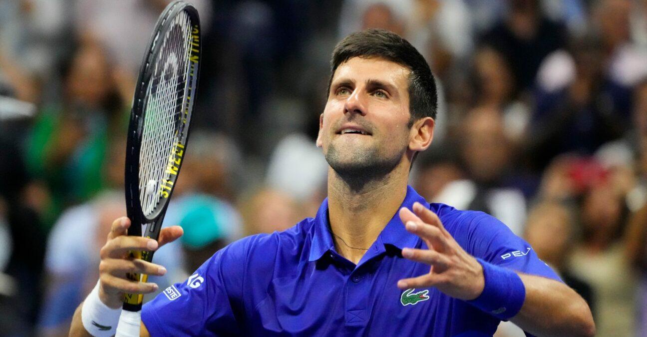 Novak Djokovic at the 2021 US Open