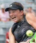 Jelena Ostapenko at the National Bank Open tennis tournament Monday August 9, 2021 in Montreal.