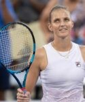 Karolina Pliskova during the Western and Southern Open at the Lindner Family Tennis Center.
