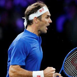 Roger Federer at the 2019 Laver Cup