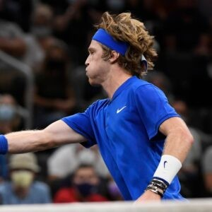 Team Europe's Andrey Rublev during the Laver Cup at TD Garden
