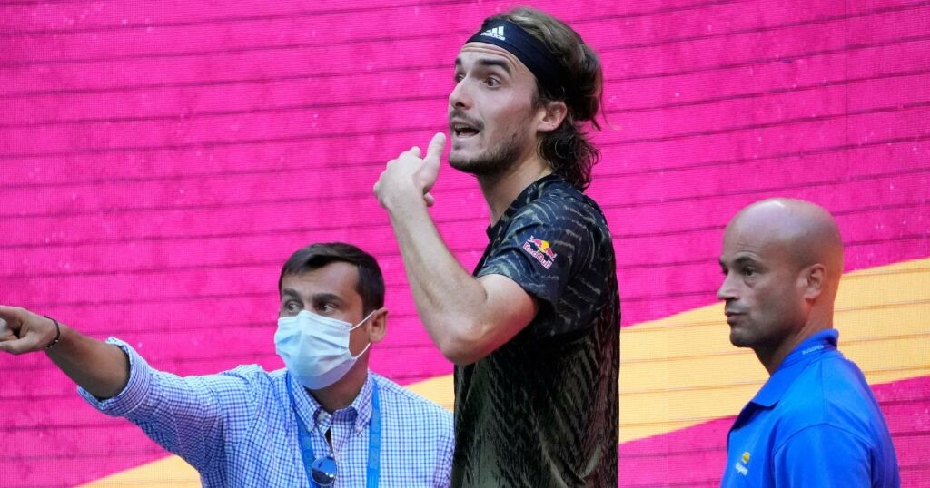 Stefanos Tsitsipas at the 2021 US Open