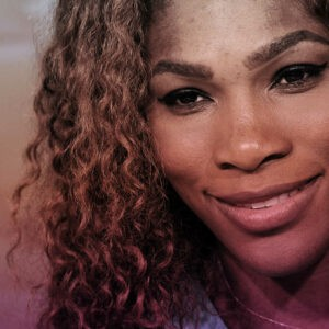 Serena Williams, stylized portrait for her 40th birthday