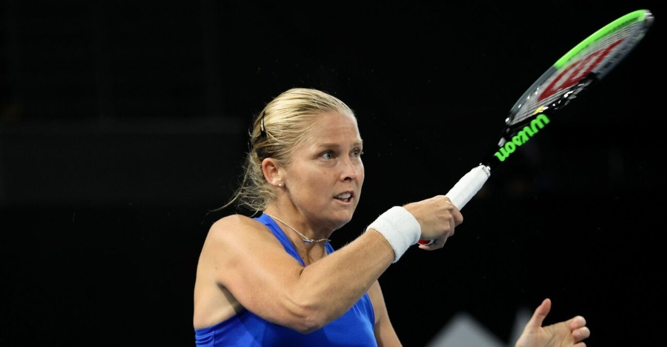 Shelby Rogers at the Adelaide International tennis tournament at Memorial Drive on February 23, 2021 in Adelaide, Australia.