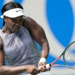 Sloane Stephens at the 2019 WTA Wuhan Open tennis tournament in Wuhan, central China's Hubei Province