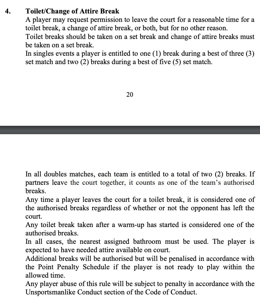 Excerpt from the 2021 Official Grand Slam Rule Book