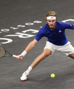 Stefanos Tsitsipas at the Laver Cup in 2021
