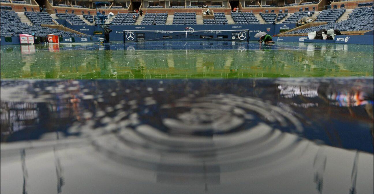 US Open under rain