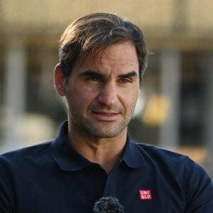 Roger Federer, à Doha en 2021