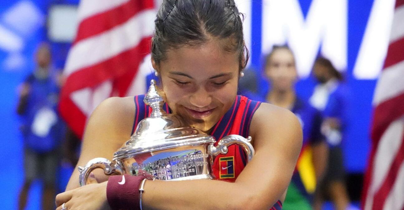 Emma Raducanu, à l'US Open en 2021