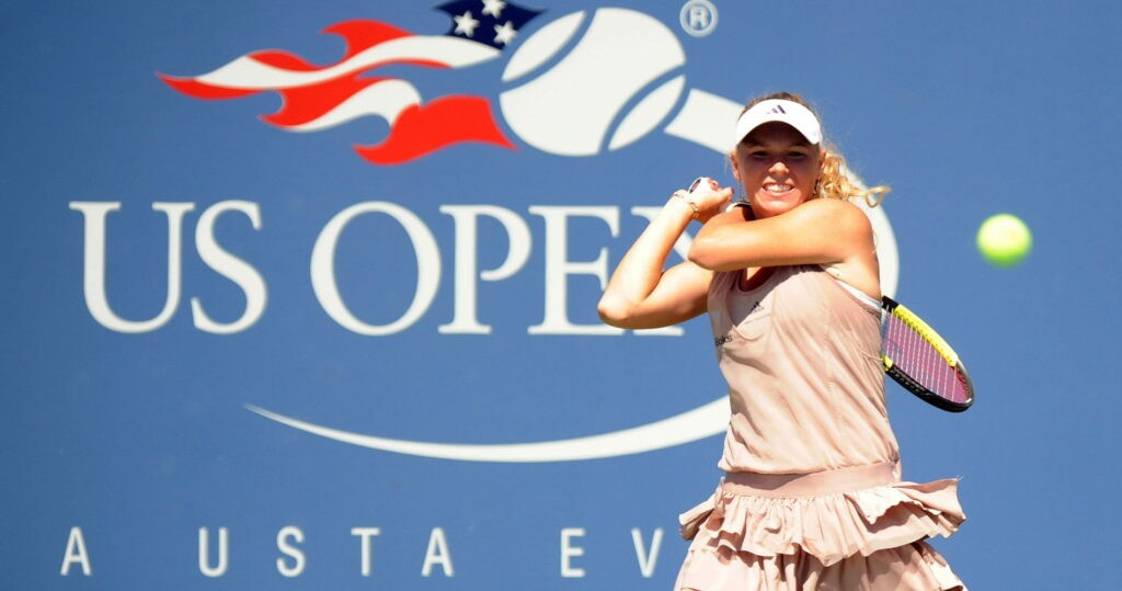 Caroline Wozniacki pendant l'US Open 2009