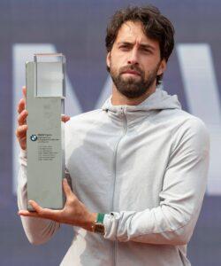 Nikoloz Basilashvili at the Tennis BMW Open 2021 ATP MTTC Iphitos Munich Germany