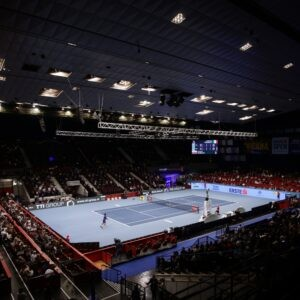 Erste Bank Open - Wiener Stadthalle, Vienna, Austria - November 1, 2020 General view during the final between Italy's Lorenzo Sonego and Russia's Andrey Rublev