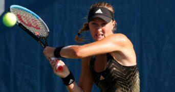 Kristina Mladenovic at the US Open in 2021