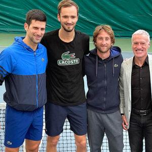 Djokovic, Medvedev, Cervara, Deschamps, Hernandez, Mouratoglou academy