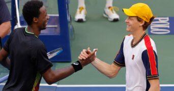 Gael Monfils and Jannik Sinner US Open 2021