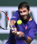 Cameron Norrie (GBR) in the semifinal match at the BNP Paribas Open at the Indian Wells Tennis Garden