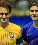 Roger Federer and Tommy Haas 2012