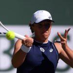Iga Swiatek (POL) at the Indian Wells Tennis Garden.