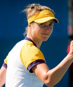 Elina Svitolina of the Ukraine in action during the second round of the 2021 Chicago Fall Tennis Classic WTA 500 tennis tournament