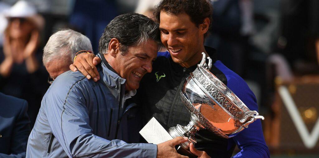 Rafael Nadal et Toni Nadal à Roland-Garros en 2017
