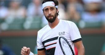 Nikoloz Basilashvili, à Indian Wells en2021