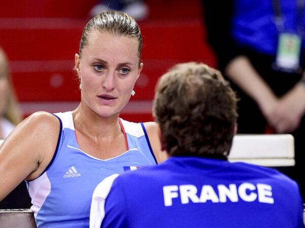 Kristina Mladenovic et Julien Benneteau, en Fed Cup 2019